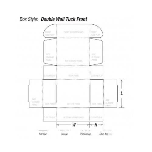 Custom Double Wall Tuck Front