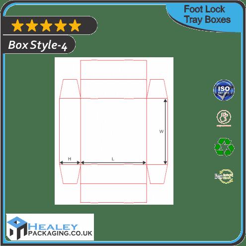 Custom Foot Lock Tray Box