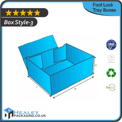 Custom Foot Lock Tray Boxes