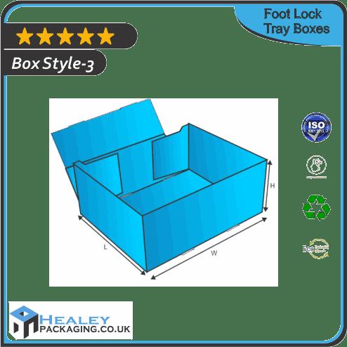 Custom Foot Lock Tray Boxes