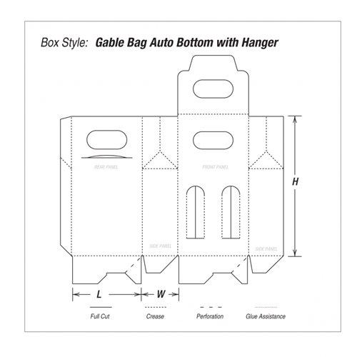 Gable Bag Auto Bottom with Hanger