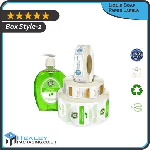 Custom Liquid Soap Paper Labels