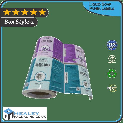 Custom Liquid Soap Paper Labels Wholesale
