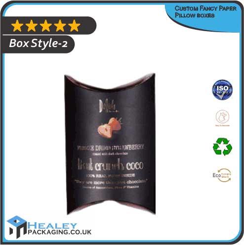 Custom Fancy Paper Pillow box