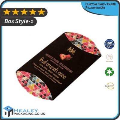 Custom Fancy Paper Pillow boxes