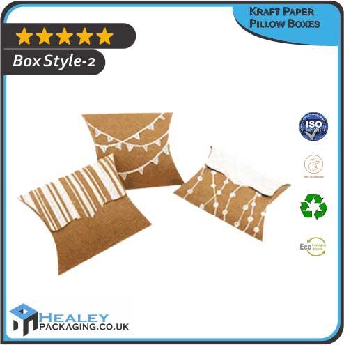 Custom Kraft Paper Pillow Box
