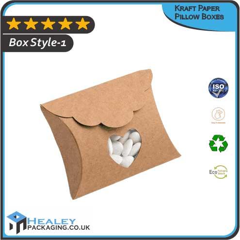 Custom Kraft Paper Pillow Boxes
