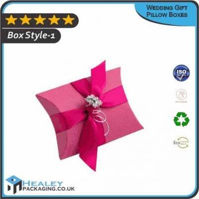 Custom Wedding Gift Pillow Boxes
