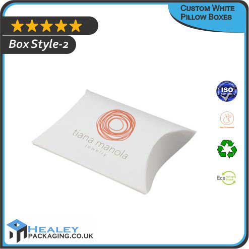 Custom White Pillow Box