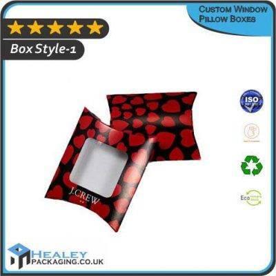 Custom Window Pillow Boxes