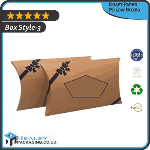 Kraft Paper Pillow Boxes