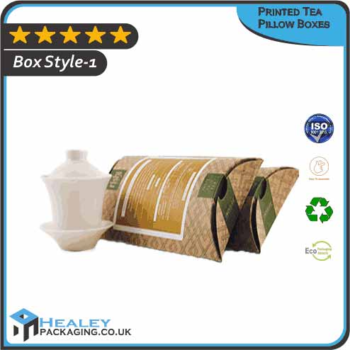 Printed Tea Pillow Boxes