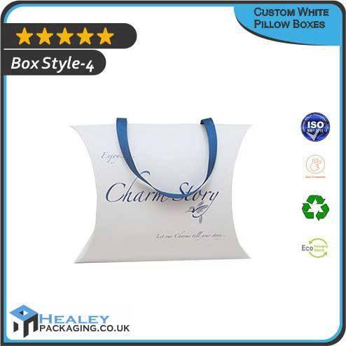 White Pillow Packaging Box