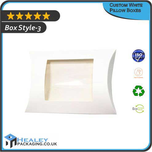 White Pillow Packaging Boxes