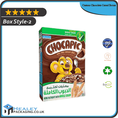 Custom Chocolate Cereal Box