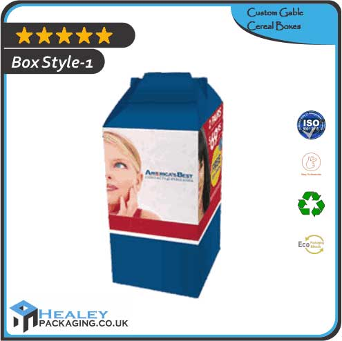Custom Gable Cereal Boxes