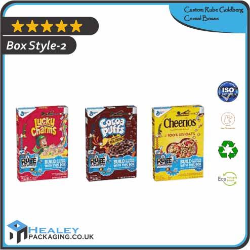 Custom Rube Goldberg Cereal Box