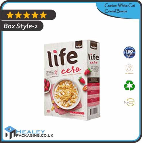 Custom White Cut Cereal Box