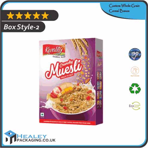 Custom Whole Grain Cereal Box