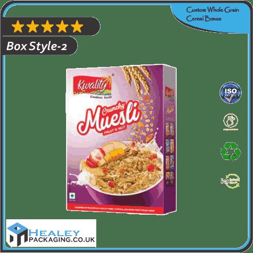 Custom Whole Grain Cereal Box