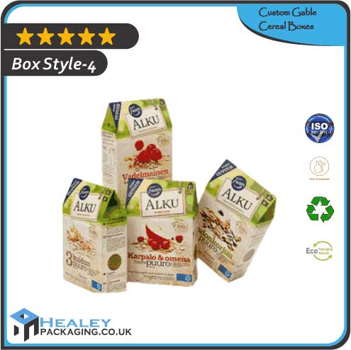 Gable Cereal Packaging Box