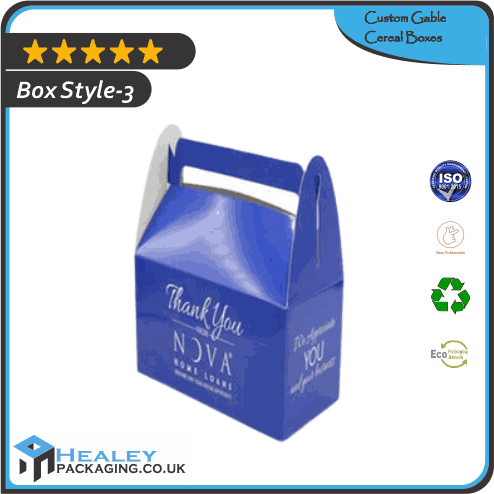Gable Cereal Packaging Boxes
