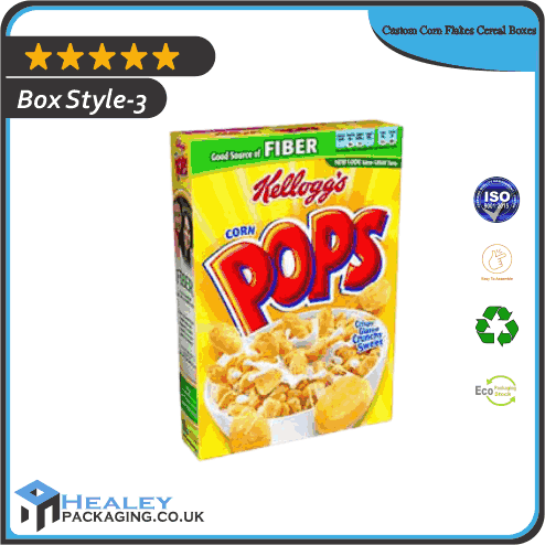 Printed Corn Flakes Cereal Boxes