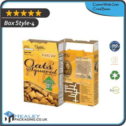 Printed Whole Grain Cereal Box