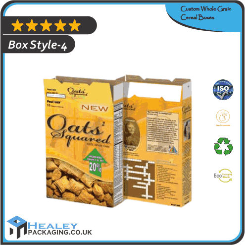 Printed Whole Grain Cereal Box