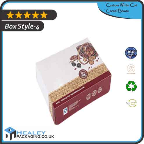 White Cut Cereal Packaging Box