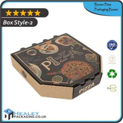 Custom Brown Pizza Box