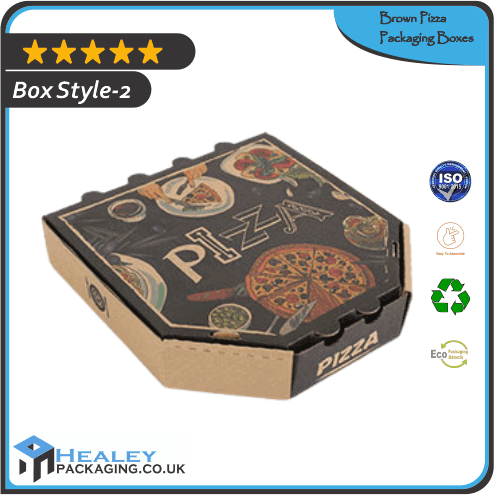 Custom Brown Pizza Box