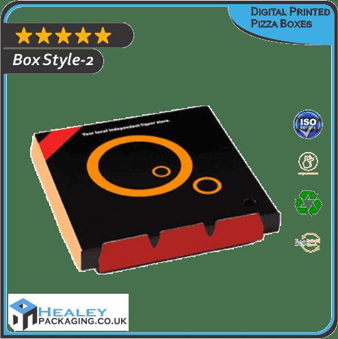 Custom Digital Printed Pizza Box