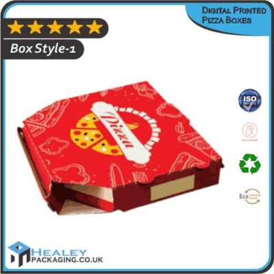 Custom Digital Printed Pizza Boxes