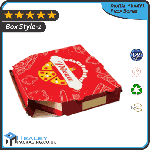 Custom Digital Printed Pizza Boxes
