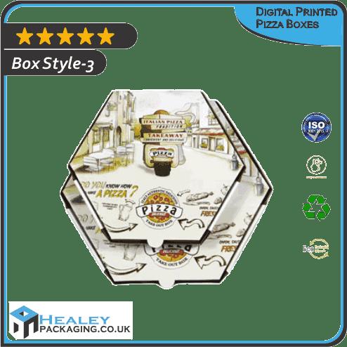 Digital Printed Pizza Boxes