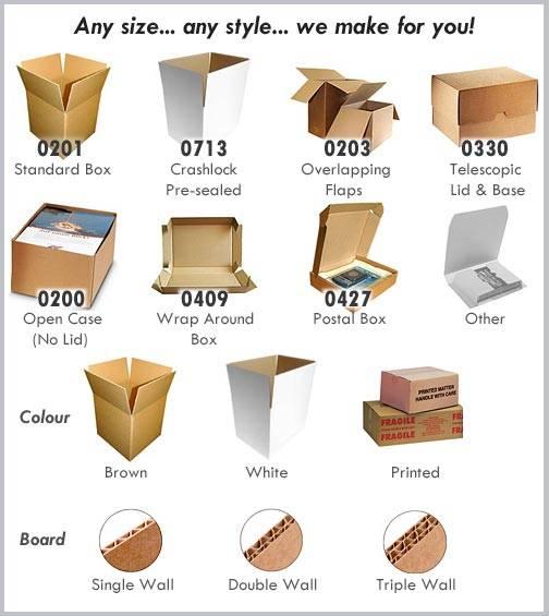 Kraft boxes styles
