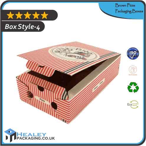 Printed Brown Pizza Box