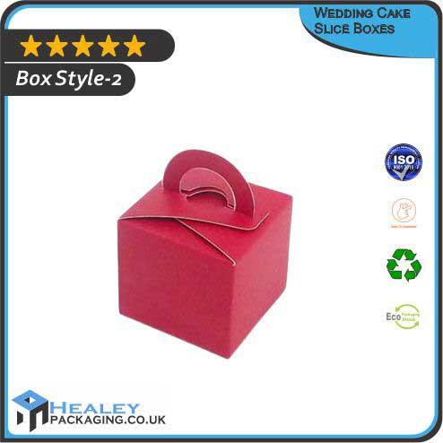 Custom Wedding Cake Slice Box