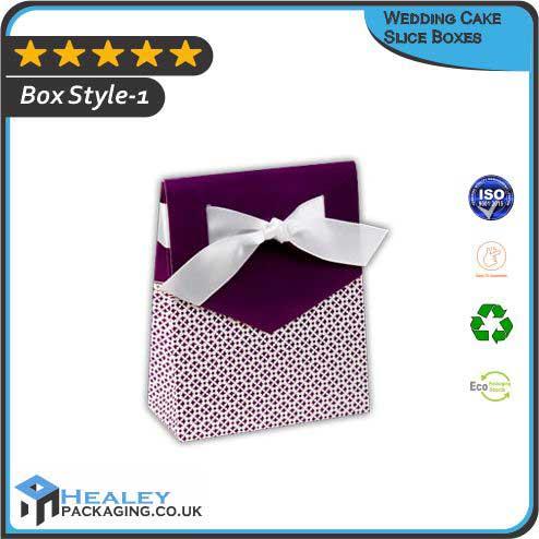 Custom Wedding Cake Slice Boxes