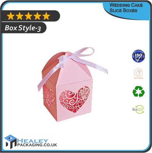 Wedding Cake Slice Boxes