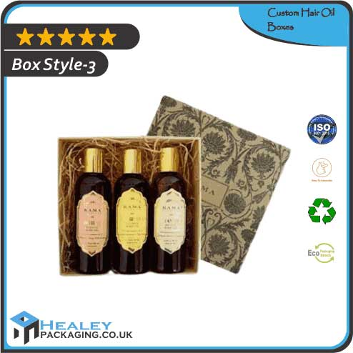 Printed Hair Oil Boxes