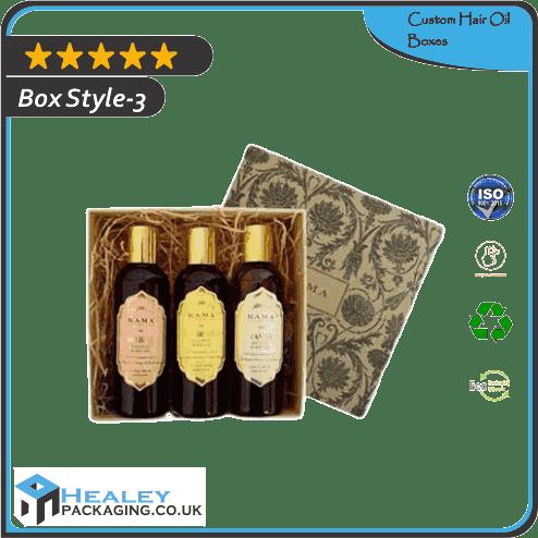 Printed Hair Oil Boxes